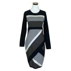 Katherine Barclay Montreal Grey Combo Sheath Dress